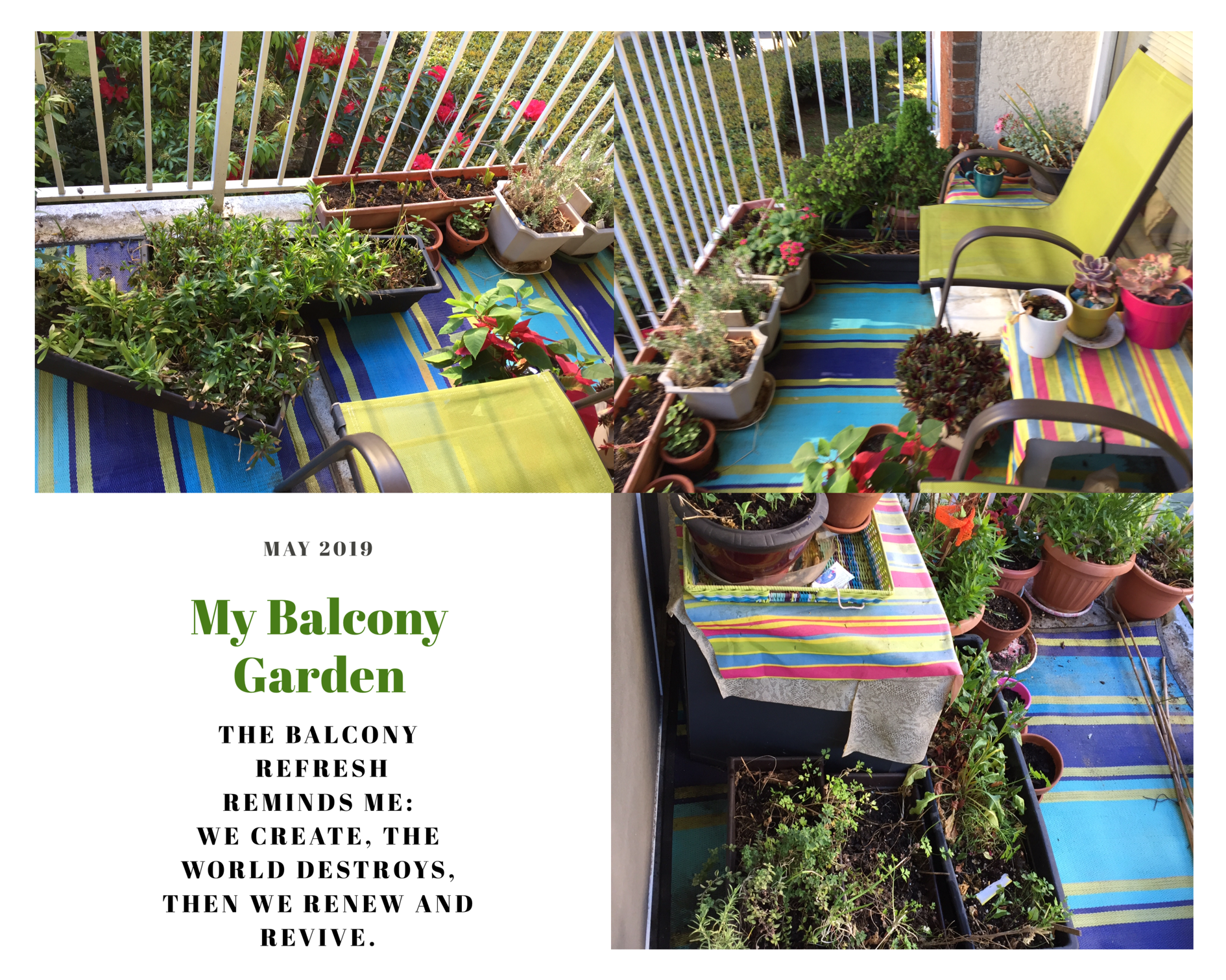 Balcony clean up